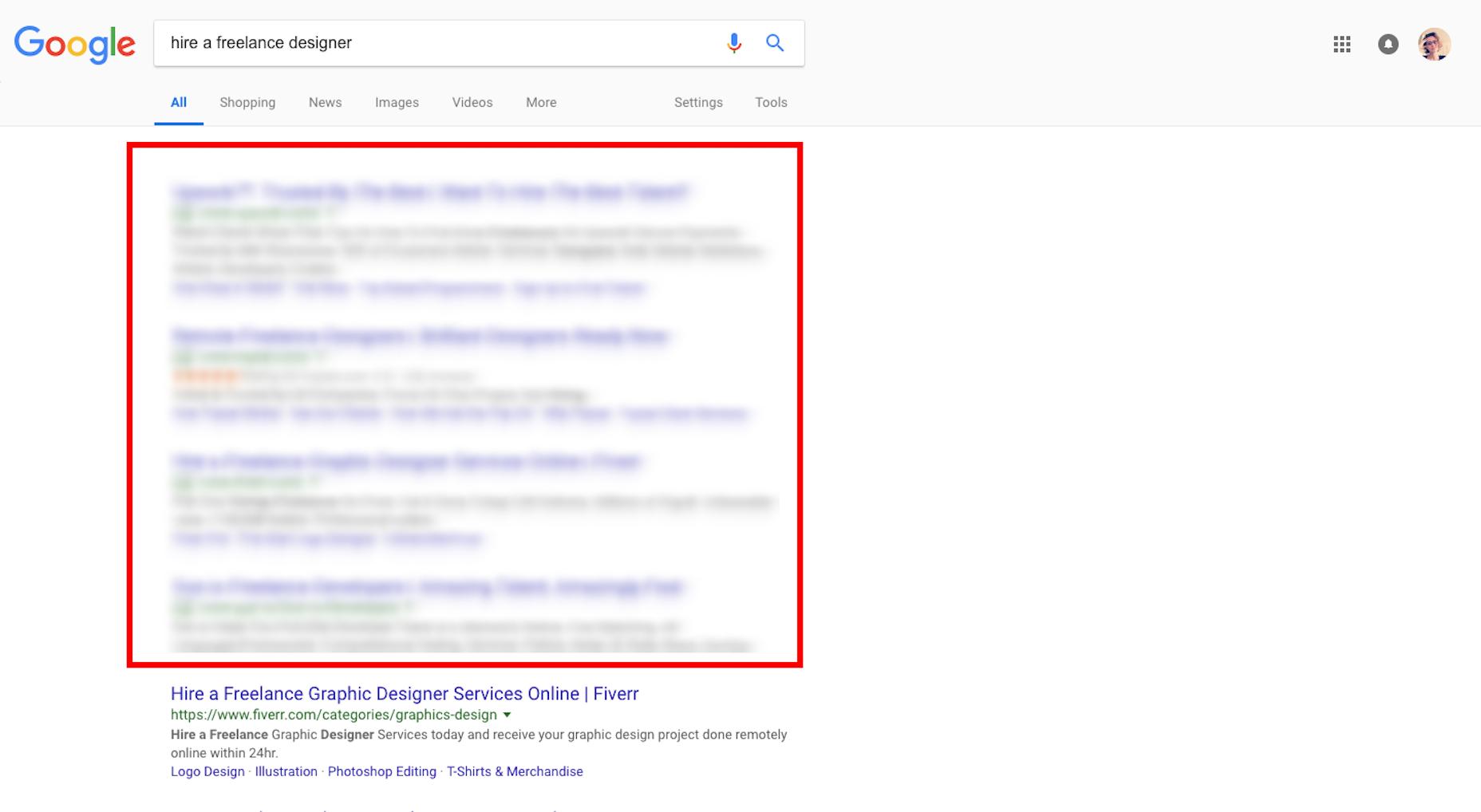 Listados de búsqueda orgánica