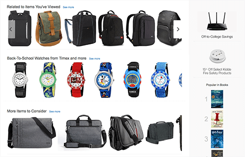 Falta de diferencias de tamaño en las imágenes de los productos.