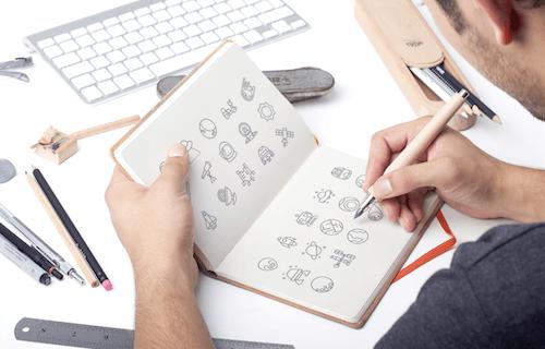 Los iconos se pueden utilizar de diversas formas, incluidos proyectos impresos más pequeños o tarjetas de visita.