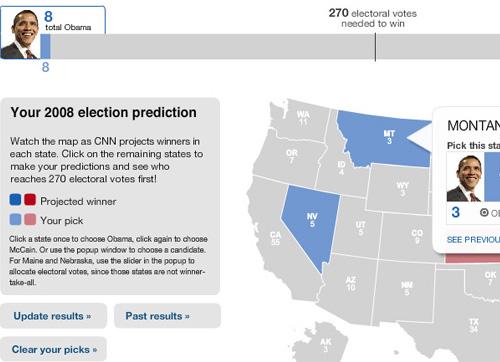 Mapa de votación electoral de CNN