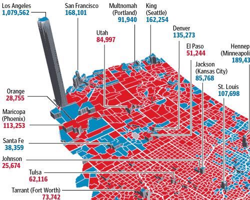 Elección 2008 Desglose del condado