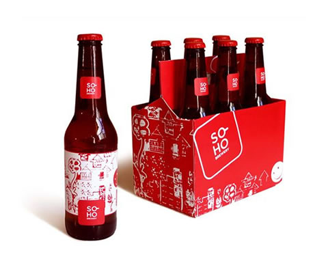 Embalaje de cervecería Soho