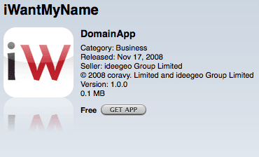 Captura de pantalla iWantMyName DomainApp
