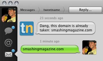 Captura de pantalla de Tweetname