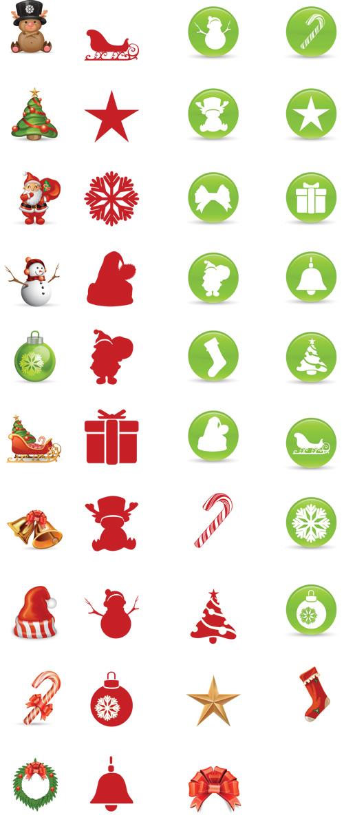 Aplastante conjunto de iconos de navidad