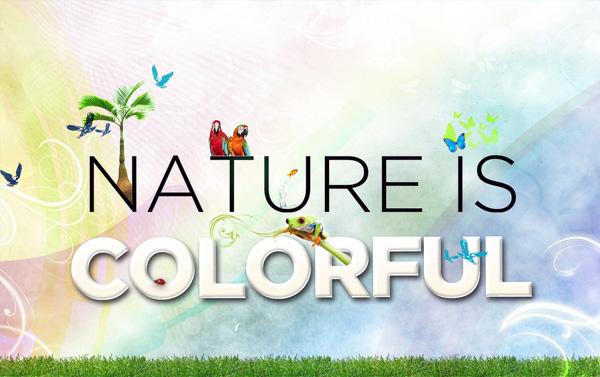 La naturaleza es colorida