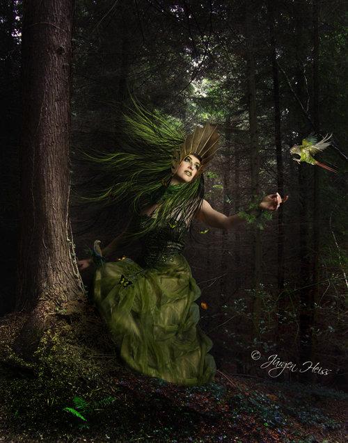 Cómo crear una escena de fantasía de la madre naturaleza