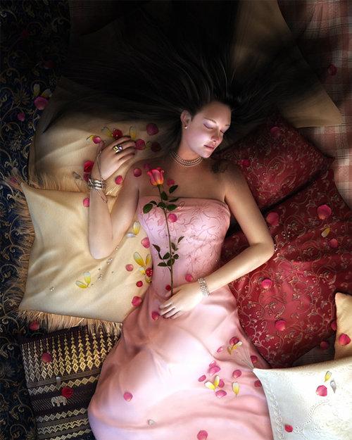 Making of Beauty en la cama