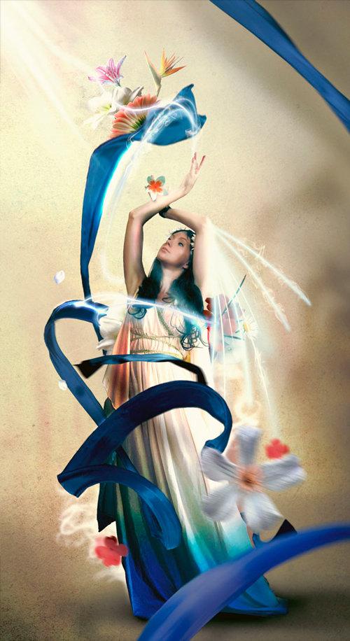 Cómo crear una manipulación de fotos de fantasía brillante
