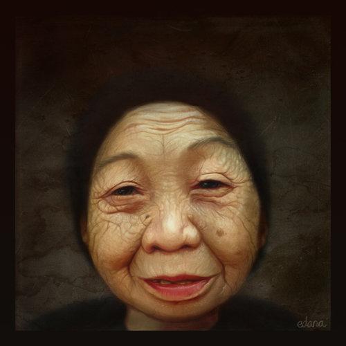 Pintar personas realmente mayores