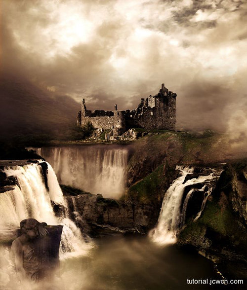 Cómo crear una manipulación fotográfica de un paisaje de fantasía