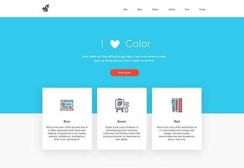 Paleta de colores aplicada al diseño de un sitio web