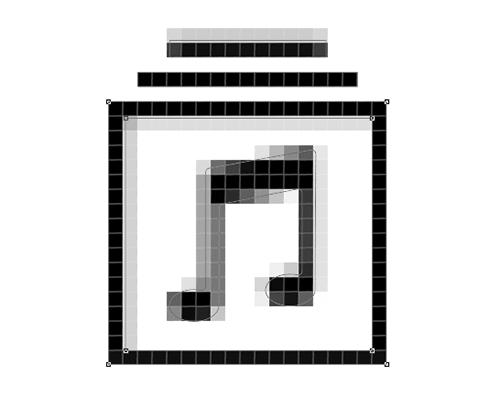 Los puntos de ancla de la parte inferior y del lado derecho ahora están alineados con la cuadrícula de píxeles.