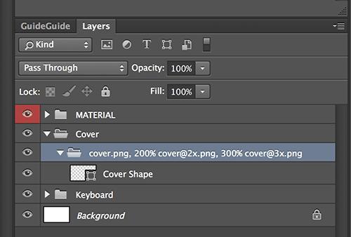 Las comas separan las versiones y el porcentaje le dice a Photoshop la cantidad de escala.