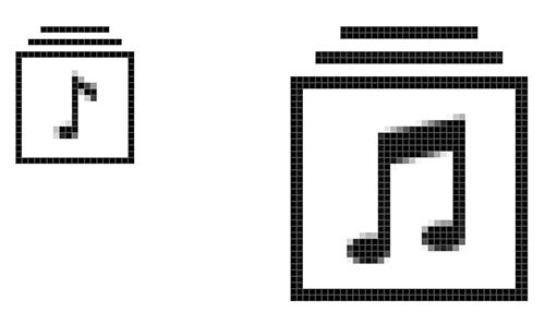 Crea diferentes iconos para diferentes resoluciones.
