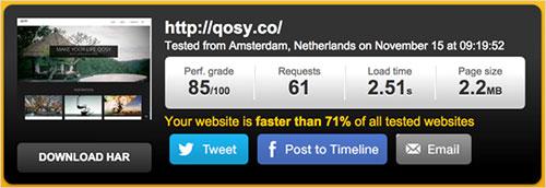 Estadísticas del sitio web de Qosy.