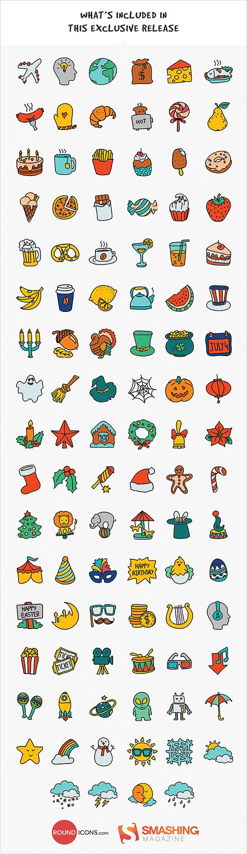 todos los iconos de doodle