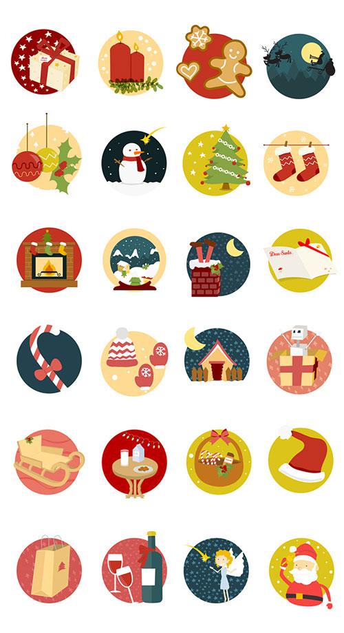 Un avance rápido del conjunto de iconos navideños de este año.