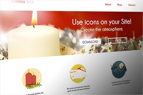 Un vistazo a cómo se ven los iconos en un sitio web.