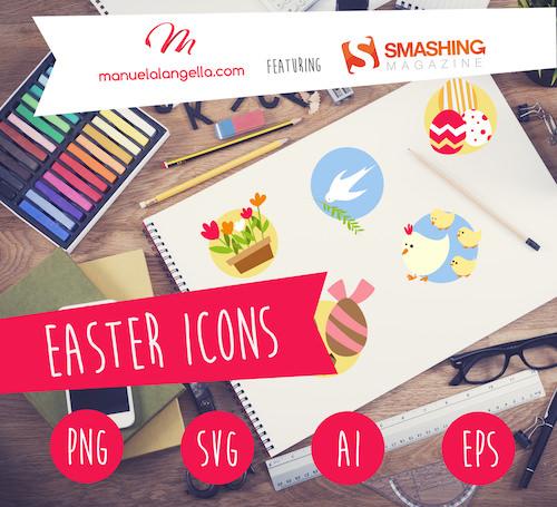 Los iconos se ven brillantes en folletos, volantes y tarjetas de Pascua.  ¡Deje fluir su fantasía y creatividad!