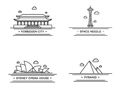 Iconos de referencia mundial