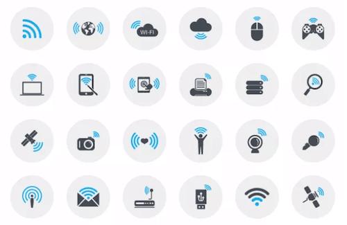 Iconos de conexión Wi-Fi