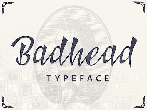 Tipografía Badhead