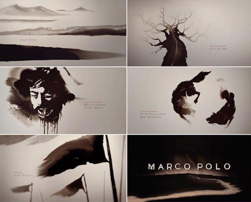 Apertura de títulos de la película Marco Polo