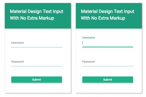 Texto de entrada de material design