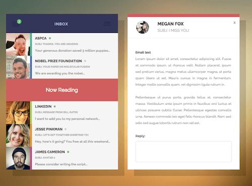 Campo de usuario de la bandeja de entrada de CSS