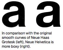 Neue Haas Grotesk contra Neue Helvetica.