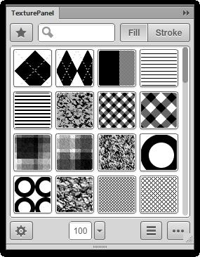 Captura de pantalla del panel de textura