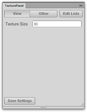 Configuración en el panel Textura