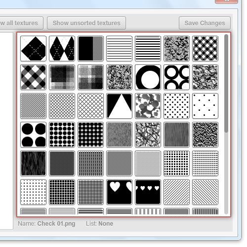 Diálogo de lista - área de visualización