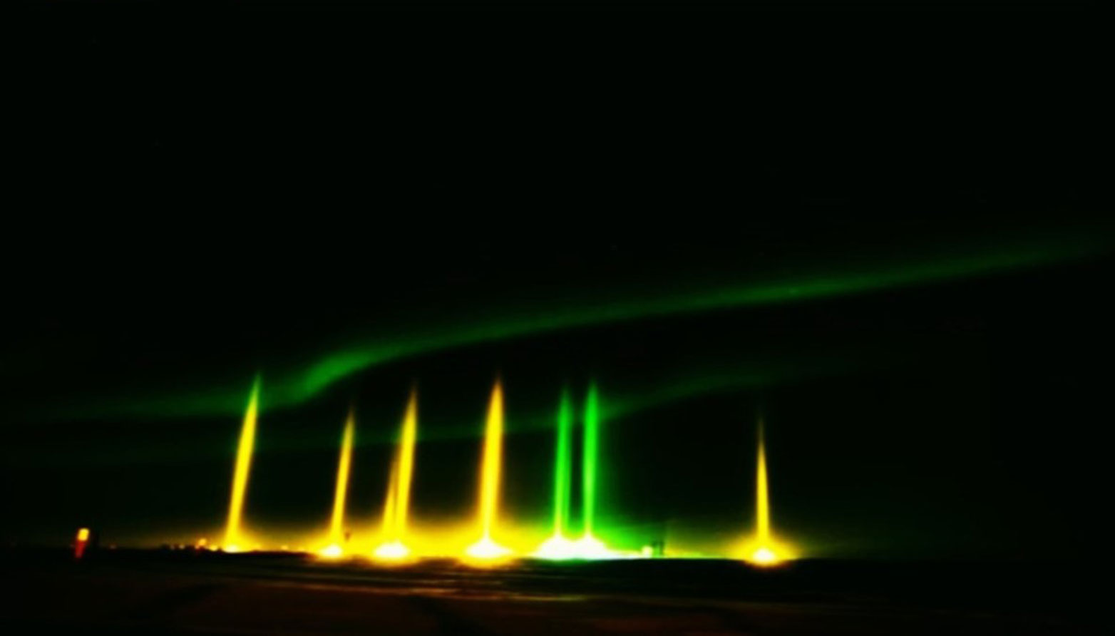 Pilares de luz
