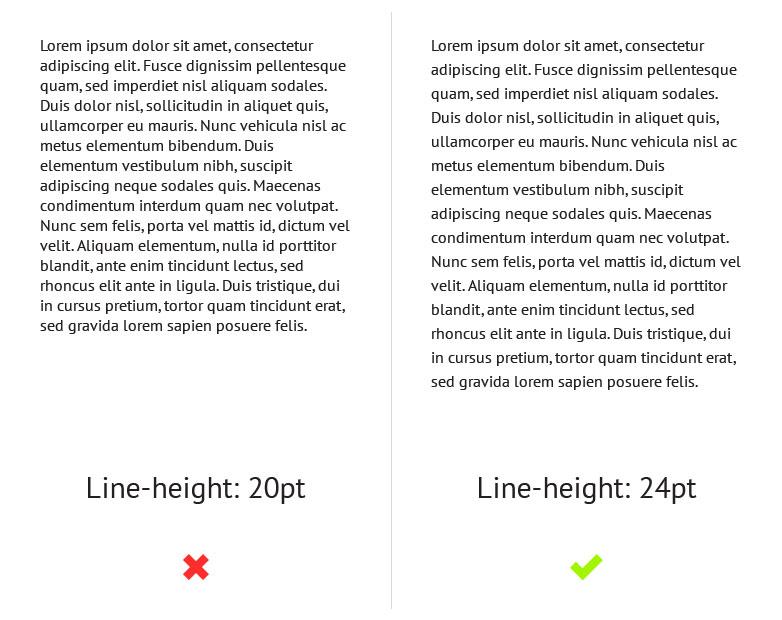 altura de la línea