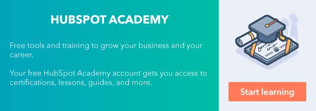 Regístrese para obtener la cuenta gratuita de HubSpot Academy.